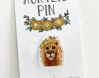 Lion with Crown  Pin