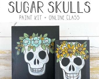 Sugar Skull - Paint Class Kit + Online Class