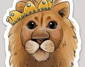 Lion with Crown Sticker