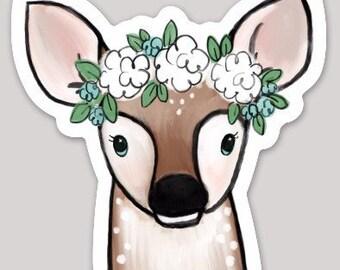 Deer Fawn Sticker