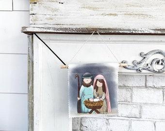 Nativity - Banner/Wall Hanging/ Pennant