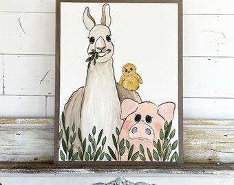 Farm Friends / Llama / Pig  / Baby Chick