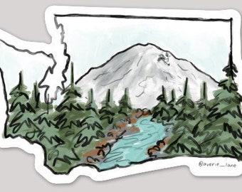WASHINGTON Sticker - Mount Rainer