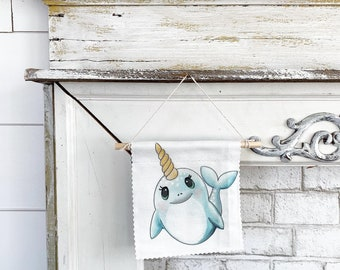 Narwhal - Banner/Wall Hanging/ Pennant