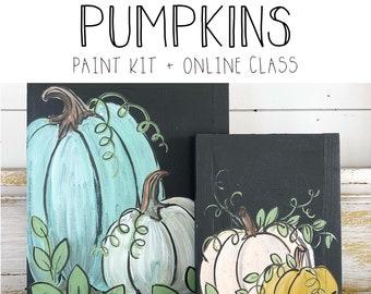 Pumpkins - Paint Class Kit + Online Class