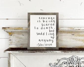 John Wayne courage