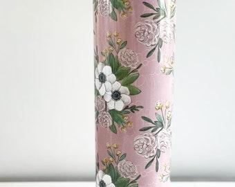 Floral Tumbler / Light Pink