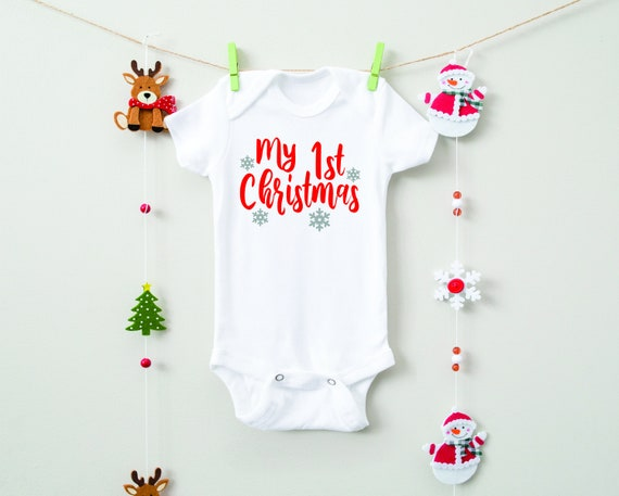 Newborn Christmas Outfit Take Home Outfit Baby First Christmas 1st Christmas My First Christmas Bodysuit-Baby Christmas Bodysuit