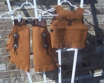 2T-3T Felt Cowboy Chaps and Vest