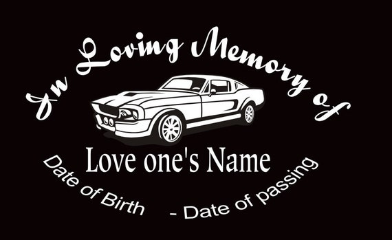 In Loving Memory Custom Car Stickers