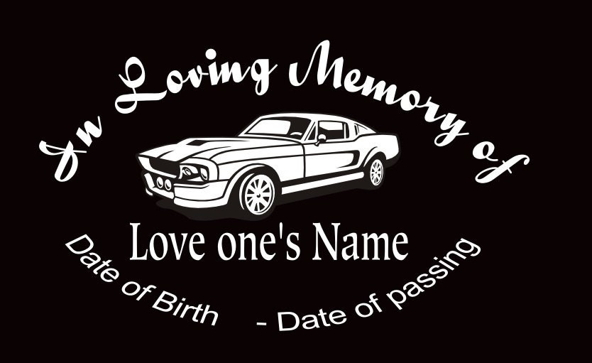 In Memory Of Custom Car Decals