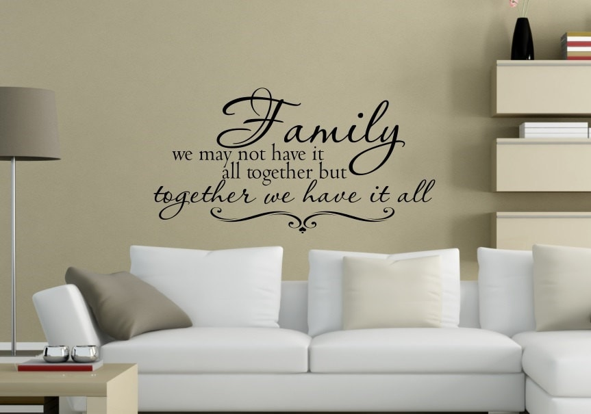 Family Wall Decal Family Quote Wall Decal Bible Verse Etsy