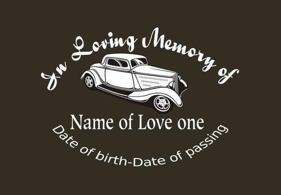 In Loving Memory Car Decals >> Hotrod Memory Decal In Loving Memory Car Decal Custom Memory Auto Decal