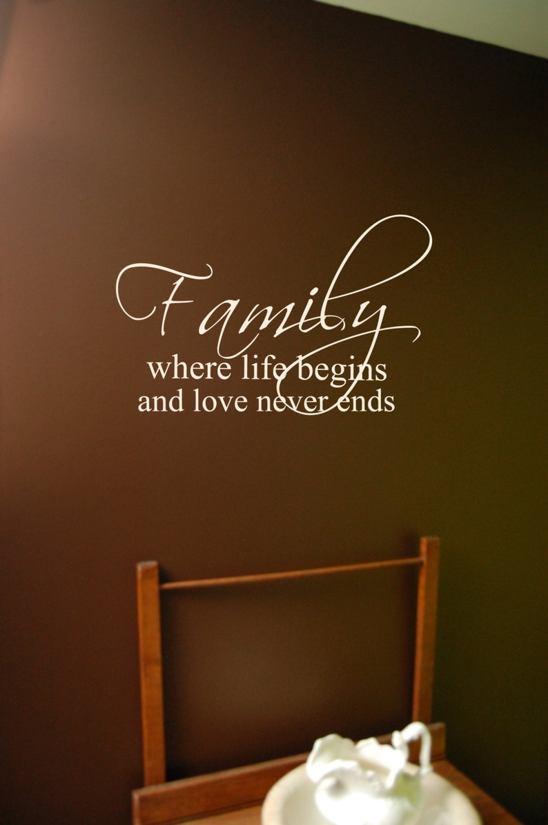 Bible verse decal Bedroom wall decal Family wall decal Laundry Room decal