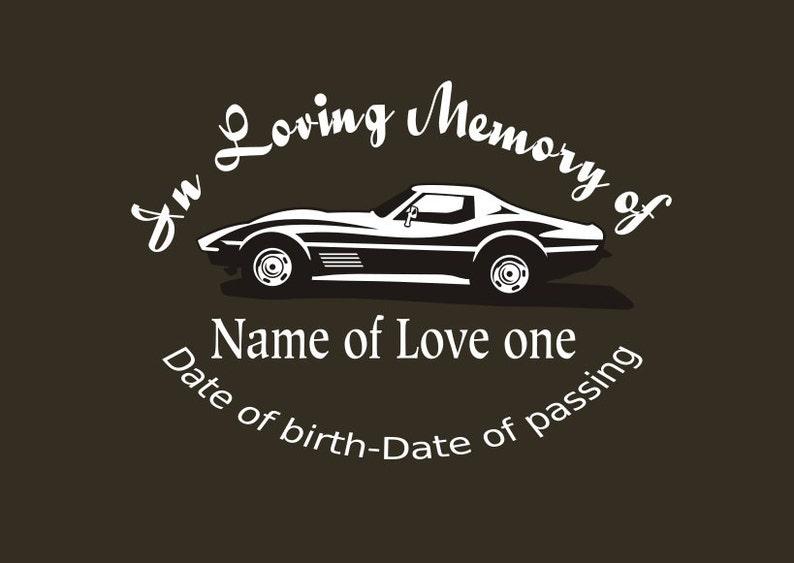 In Loving Memory Car Decals >> Corvette Memory Decal In Loving Memory Car Decal Custom Memory Auto Decal Corvette