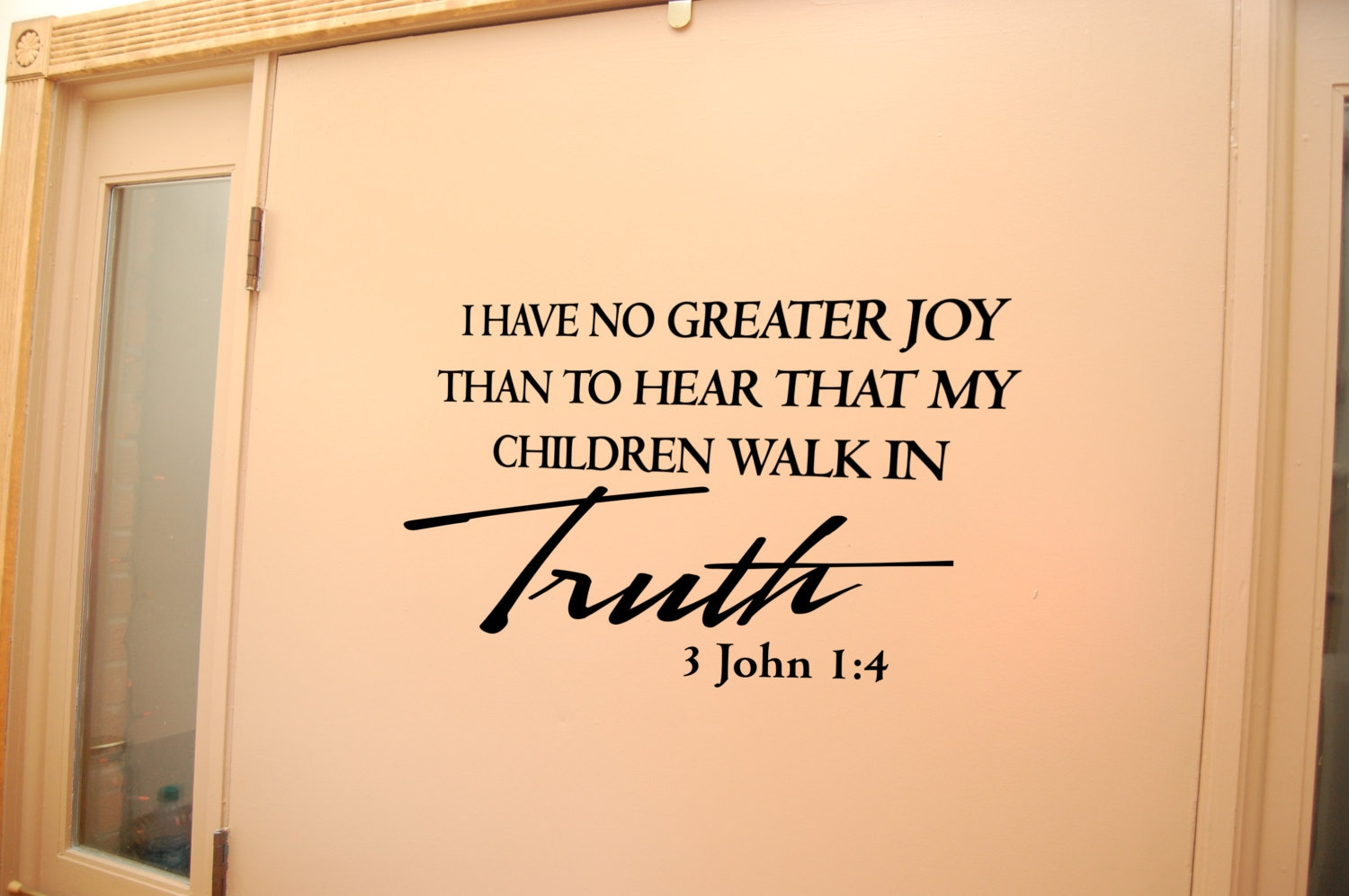 3 John 1:4 wall decal Family quote decal Laundry Room decal | Etsy