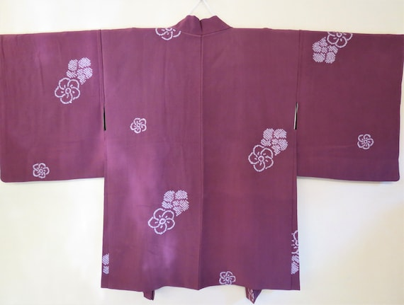 HAORI /SHIBORI /SAKURA /Vintage Japanese Silk Haor