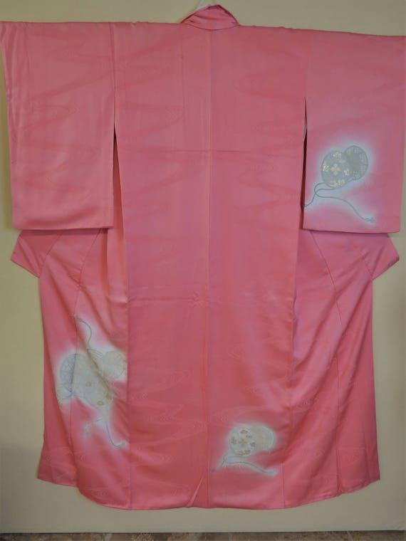 KIMONO/ SILK /Japanese Vintage Homongi Kimono /Uru