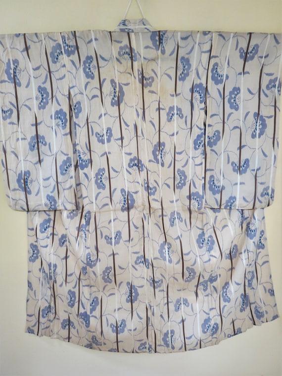 Kimono / See Through / Sheer Silk / Antique / Show