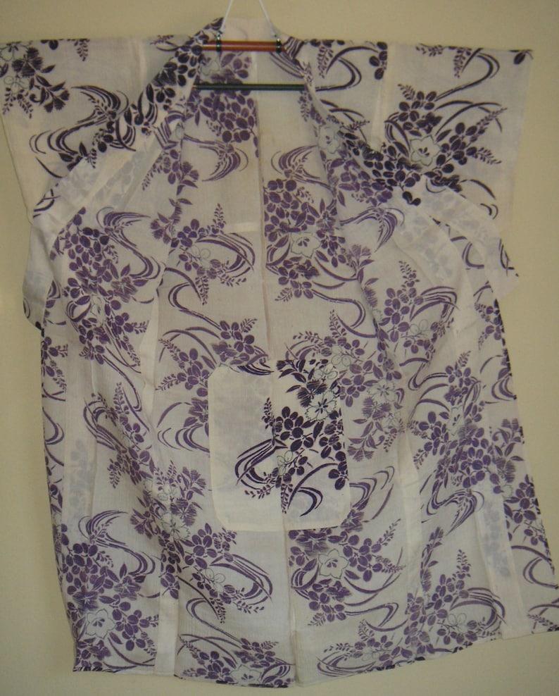 Kimono  Japanese Kimono  Vintage  See Through Kimono  Antique Silk Kimono  Boho  Hand Sewn  Boho  Geisha Robe  Showa  Gift For Her