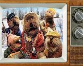 Emmet Otters Jug-Band Christmas TV Fridge Magnet 2 quot x 3 quot art Saturday Morning Cartoons Refrigerator nostalgic retro