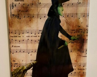The Wizard of Oz Fabric Block Sheet Music Ding Dong The Witch is Dead Ruby Slipp