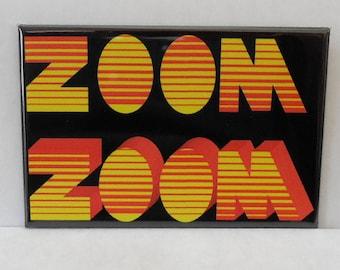 "ZOOM TV Show  PBS 2"" x 3"" Fridge Magnet Art Television art Vintage"
