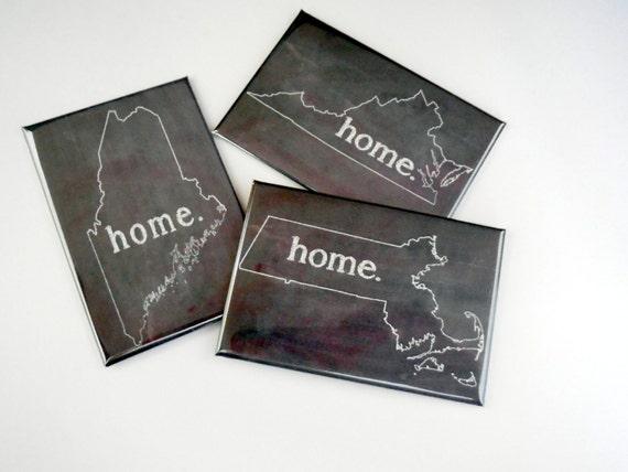 "VIRGINIA HOME STATE PRIDE 2/"" x 3/"" Fridge MAGNET CHALKBOARD CHALK COUNTRY"