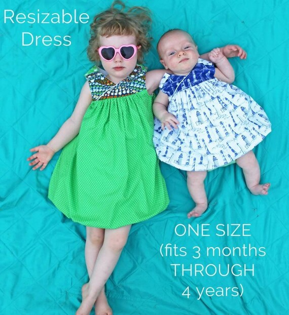 3dc8f8dc7 Ready to Ship Snails and Dots Resizable Dress ONE size