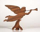 Herald Angel, Wood Angel, Christmas Angel, Angel Weathervane (Oregon Oak)