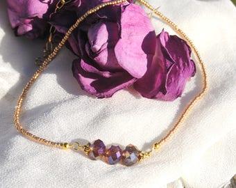 Purple Bead Trio Necklace