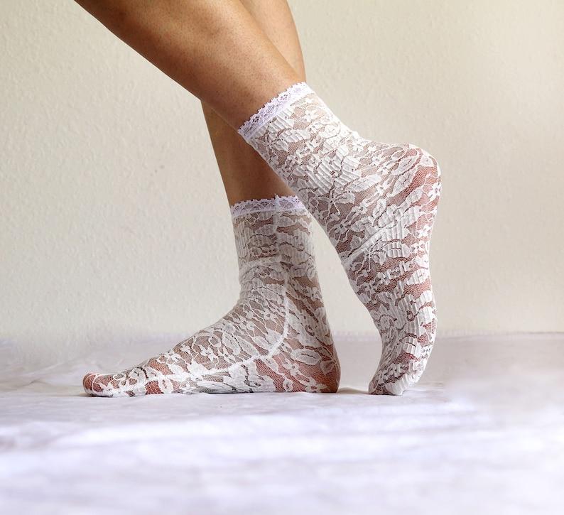 d377c625e1 Ivory Lace Women's Socks. Handmade Lacy Socks. Bridal gift.