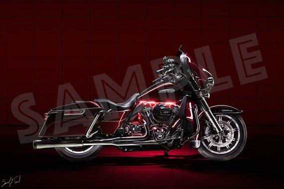 Metal Motorcycle Wall Art.Red Harley Davidson On Aluminum Metal Wall Art Motorcycle