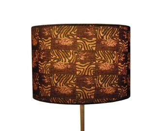 African lampshade etsy sale african jungle safari lamp shade last 1 left 30cm drum lamp shade tribal safari lampshade man cave tribal decor detola and geek aloadofball Images