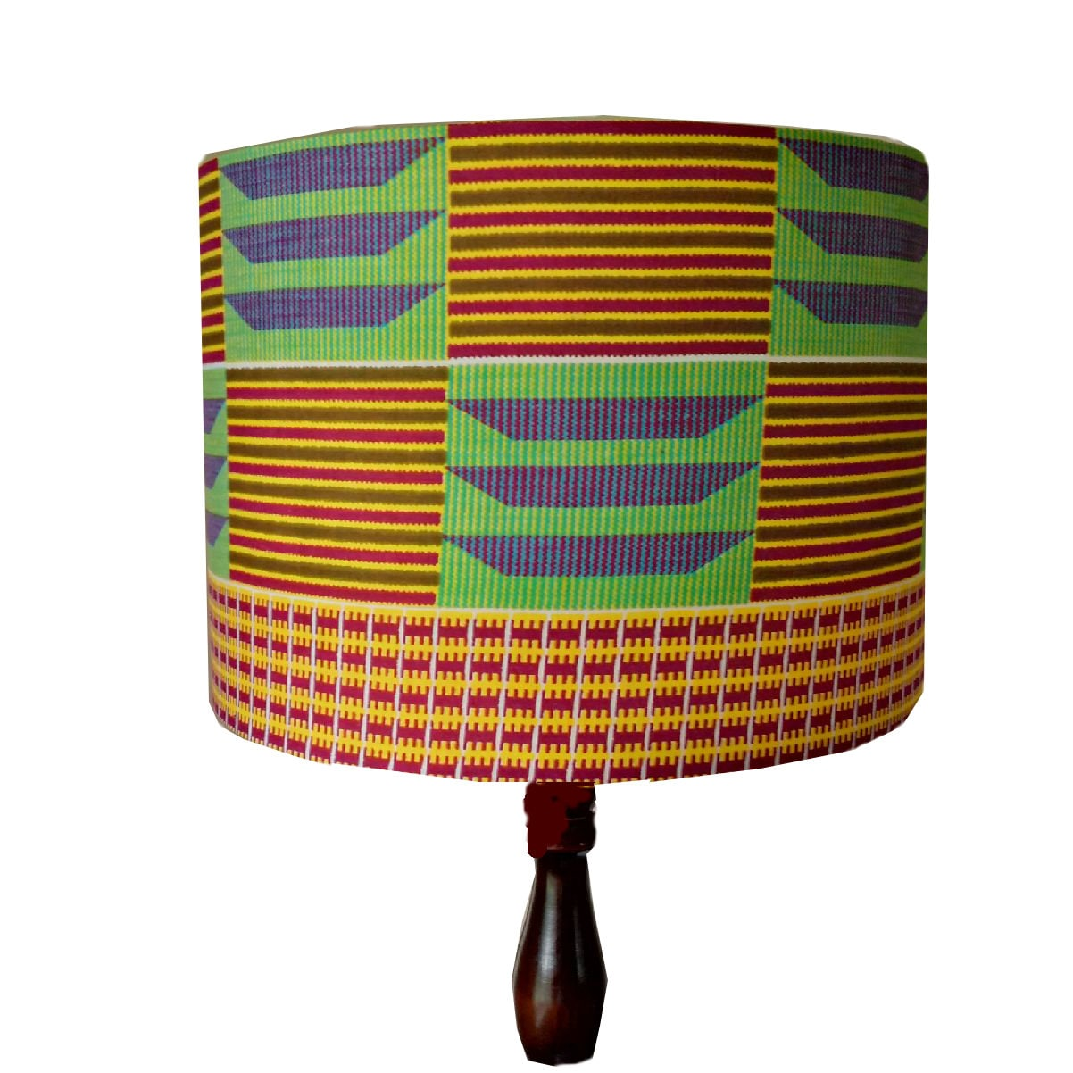 Seconds Geometric African Kente Lampshade Mid Century Modern Lampshade 30cm Drum Lamp Shade African Home Decor Gift Detolaandgeek