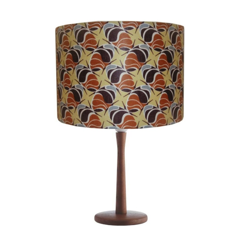 Coffee Beans Seeds Botanical Lampshade African Print Drum image 0