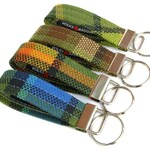 Vintage Style, Volkswagen, VW Camper/Bus Key Fob, Key Chain, Plaid, Green, Yellow, Brown, Red, Blue, Gifts for Men