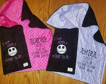 NIGHTMARE BEFORE CHRISTMAS BABY BURP CLOTH AUNTIE/'S Lil NiGhTMaRe BaBy Gift!