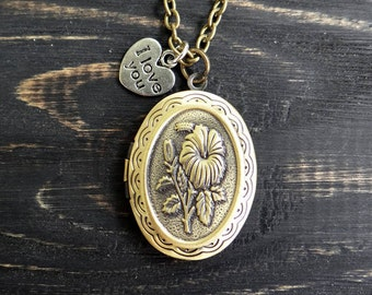 Quote necklace wedding date necklace inspirational jewelry personalized necklace special date necklace locket necklace victorian jewelry
