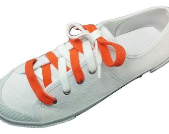 Orange and White Shoelaces - Custom made Syracuse colors