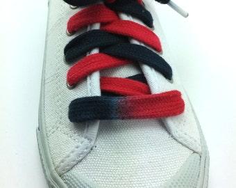 Learn to tie Black & Red Custom Bi-colored shoelace (Tyes)