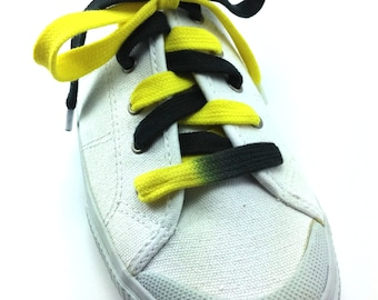 Black and Yellow Shoelaces (Tyes) - Custom Made