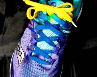 Blue and Yellow bi-colored Shoelaces (Tyes)