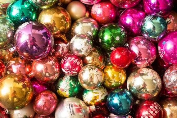 image 0 - Assorted Glass Christmas Tree Ball Ornaments Assortment Xmas Etsy