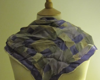 Purple Print Silk Scarf