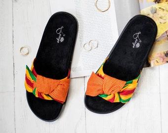 791e25374b8c7 Kente sandals | Etsy