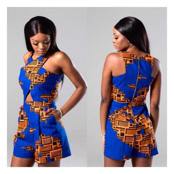 379cfa7405f7 African print romper Ankara romper african print playsuit african