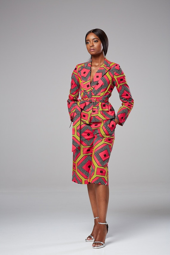 1000 Images About African Print 2 Piece Outfit On: African Two Piece Set Ankara Culottes Set Blazer Set