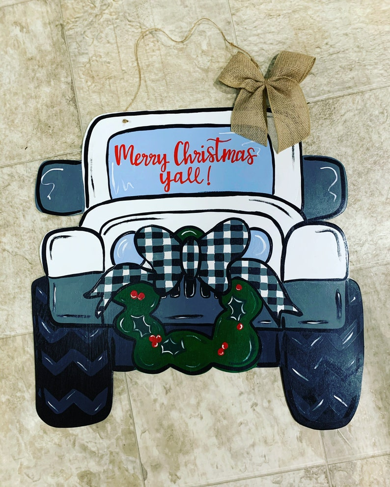 Christmas Wreath Jeep Truck Door Hanger