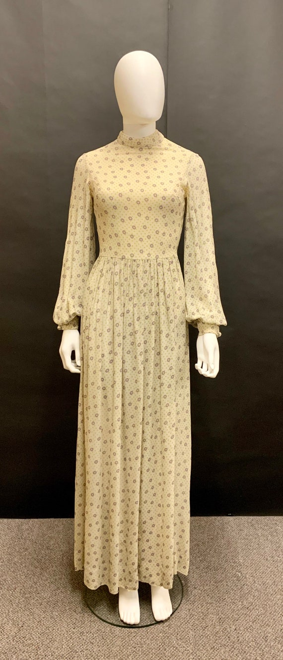 "Cute ""diorling by Christian Dior"" 70's crepe maxi"
